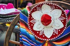 Sombrero and poncho Royalty Free Stock Photography