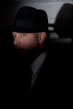 Sombrero privado del detective del investagator pi del cine negro fotos de archivo libres de regalías
