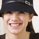 Sombrero que desgasta de la muchacha Imagenes de archivo