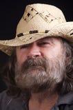 Sombrero que desgasta del hombre Fotografía de archivo libre de regalías