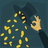 Sombrero que gasta mucho dinero Imagen de archivo libre de regalías