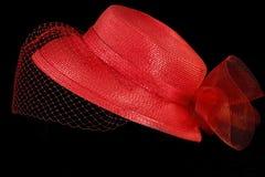 Sombrero retro con la red fotografía de archivo libre de regalías