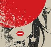 Sombrero rojo stock de ilustración