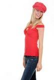 Sombrero rojo Imagen de archivo libre de regalías