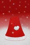 Sombrero rojo de la Navidad Imagenes de archivo