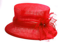 Sombrero rojo de lujo Foto de archivo