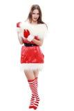 Sombrero rojo de Papá Noel Imagenes de archivo