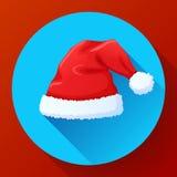 Sombrero rojo de Santa Claus, casquillo del Año Nuevo fotografía de archivo libre de regalías