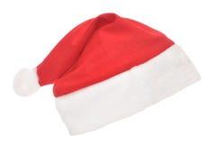 Sombrero rojo de Santas aislado en blanco Foto de archivo libre de regalías