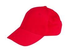Sombrero rojo del casquillo Fotografía de archivo libre de regalías