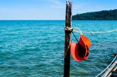 Sombrero rojo del sol Fotografía de archivo libre de regalías