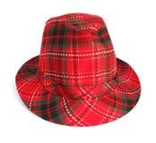 Sombrero rojo del sombrero flexible Imagen de archivo libre de regalías