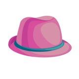 Sombrero rosado de la historieta Fotos de archivo