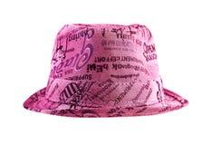 Sombrero rosado de la moda fotografía de archivo