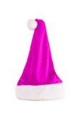 Sombrero rosado de Papá Noel Imágenes de archivo libres de regalías