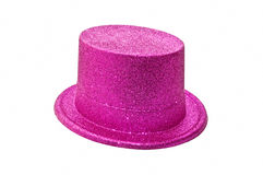 Sombrero rosado del partido Fotografía de archivo