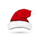 Sombrero Santa Claus Isolated On White Background Imágenes de archivo libres de regalías