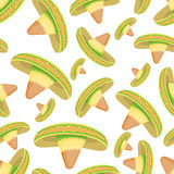 Sombrero seamless pattern royalty free illustration