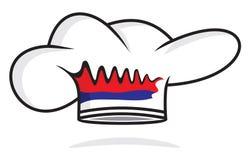 Sombrero servio del cocinero Imagen de archivo