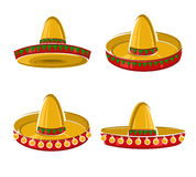 Sombrero set. Vector. Illustration icon stock illustration