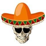 Sombrero skull Royalty Free Stock Image