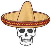 Sombrero and skull Stock Images