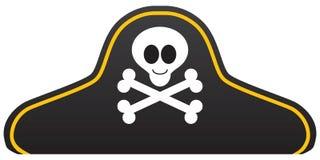 Sombrero sonriente del pirata de la historieta Imagen de archivo
