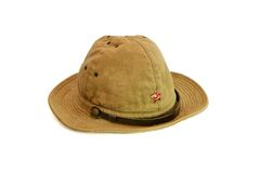 Sombrero soviético viejo del verano del ejército aislado Fotografía de archivo libre de regalías