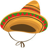Sombrero straw hat. Illustration of isolated a sombrero straw hat on white royalty free illustration