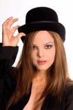 Sombrero superior del Redhead Fotografía de archivo