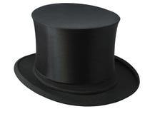 Sombrero superior negro Fotos de archivo libres de regalías