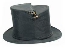 Sombrero superior negro roto vendimia Fotos de archivo