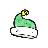 sombrero verde de santa de la historieta Foto de archivo libre de regalías