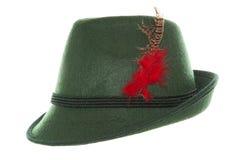 Sombrero verde del bavarian de Oktoberfest Foto de archivo libre de regalías