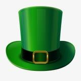 Sombrero verde del duende Imagenes de archivo