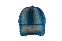 Sombrero viejo de la mezclilla fotografía de archivo