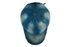 Sombrero viejo de la mezclilla foto de archivo