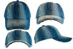 Sombrero viejo de la mezclilla foto de archivo libre de regalías