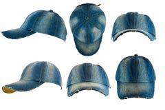 Sombrero viejo de la mezclilla fotografía de archivo libre de regalías