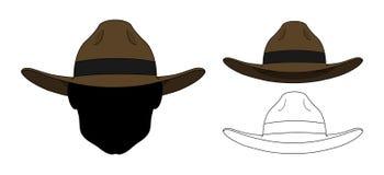 Sombrero viejo del oeste salvaje de la moda color libre illustration