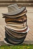 Sombrero Vueltiado. A stack of hats, sombrero vueltiado, one of the symbols of Colombia royalty free stock images