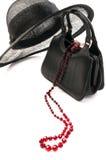 Sombrero y bolso de la vendimia Foto de archivo libre de regalías
