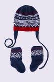 Sombrero y calcetines hechos punto Fotografía de archivo libre de regalías