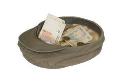 Sombrero y dinero imagen de archivo libre de regalías