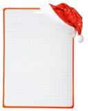 Sombrero y espacio en blanco de la Navidad fotografía de archivo libre de regalías