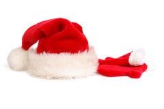 Sombrero y guantes de Santa Fotografía de archivo libre de regalías