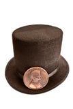 Sombrero y penique de Lincoln fotos de archivo