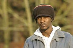 Sombrero y retrato jamaicanos Fotografía de archivo