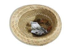 Sombrero y tarjeta uno imagen de archivo libre de regalías