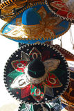 Sombreros. Mexican style sombrero hats Stock Photos